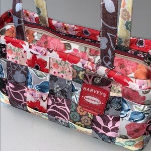 Harvey's Flora Patchwork Satchel, circa 2010, RARE